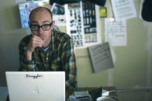 Blogger At Computer
