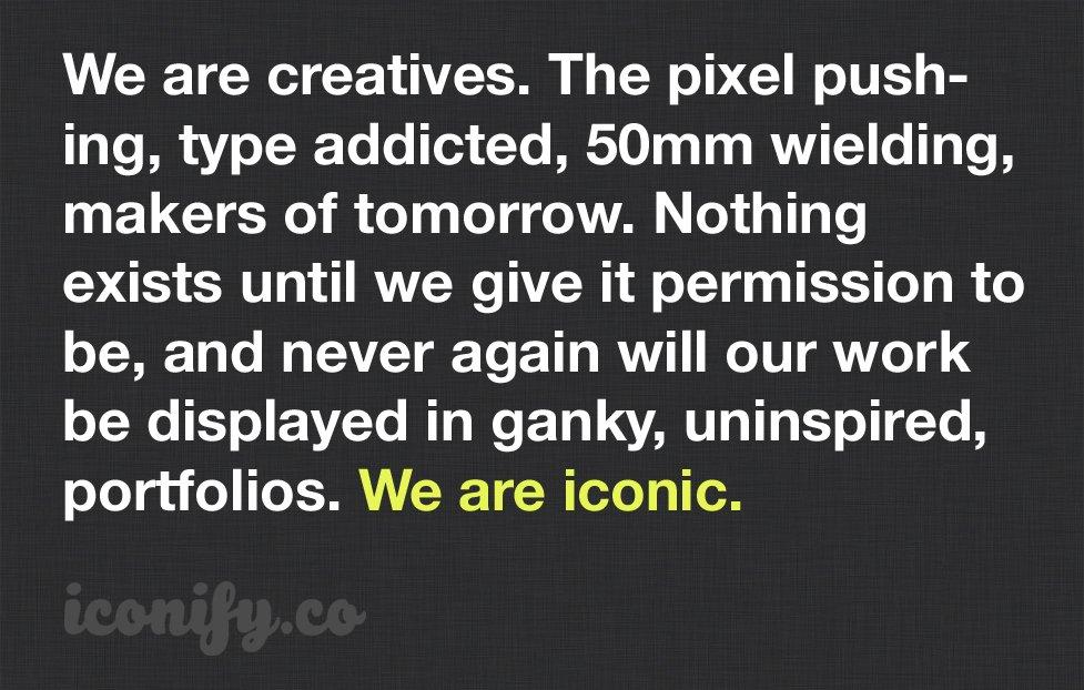 iconify brand manifesto